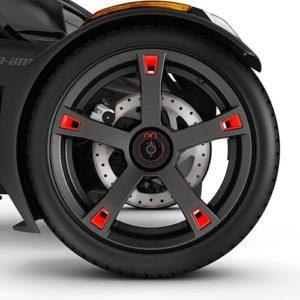 Вставки на диски Wheel Accents - Adrenaline Red 219400920