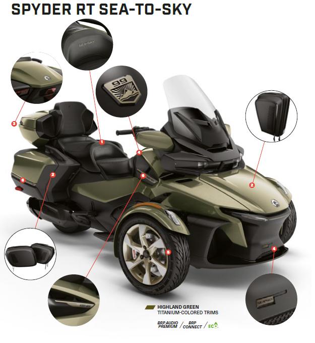 Трицикл BRP Can-Am SPYDER RT SEA-TO-SKY 1330 ACE SE6 2021